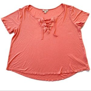 Calvin Klein ribbed short sleeve shirt